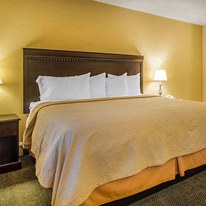 photo of king size bed in hotel room